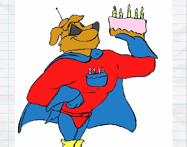 Super herói com presente