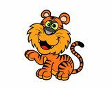 Desenho Tigre-de-bengala pintado por martaazzol