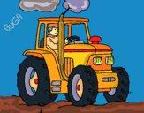 Desenho Tractor em funcionamento pintado por amauri
