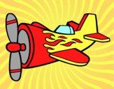Avião em chamas