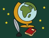 Desenho Bola do mundo pintado por Missim