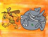 Desenho Caça de elefante pintado por Gui2016