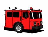 Desenho Camião de bombeiros pintado por jeansilva