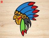 Desenho Cara de índio chefe pintado por Ann20