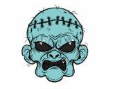 Desenho Cara de zombie pintado por jeansilva
