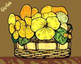 Desenho Cesta de flores 12 pintado por amauri