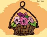 Desenho Cesta de flores pintado por amauri