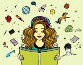 Desenho Dia do Livro pintado por Ann20