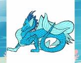 Desenho Dragão de mar pintado por ShadowCat