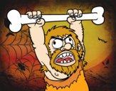 Desenho Homo sapiens aborrecido pintado por letician
