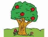 Desenho Macieira  pintado por luaspezia