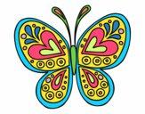 Desenho Mandala borboleta pintado por Arbaiter