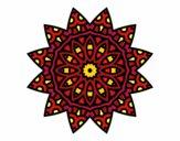Desenho Mandala estrela pintado por carlaperei