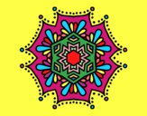 Mandala flor simétrico