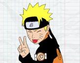 Desenho Naruto puxando para fora a língua pintado por Ursito