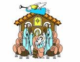 Desenho Nascimento de Jesus pintado por jeansilva