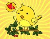 Desenho Pássaro do Twitter pintado por Missim