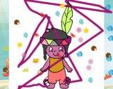 Desenho Pequeno índio pintado por NaomiXavie