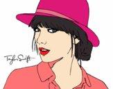 Desenho Taylor Swift com chapéu pintado por nani7