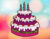 Desenho Torta de Aniversário pintado por Arbaiter