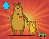 Urso e ursinho