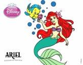 A Pequena Sereia - Ariel e Flounder