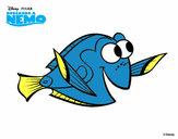Desenho À procura de Nemo - Dory pintado por Carlamotta