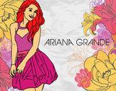 Desenho Ariana Grande pintado por Juju22