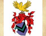 Escudo de armas e águia