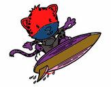 Guepardo surfista