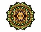 Desenho Mandala com estrato  pintado por MaraRubia