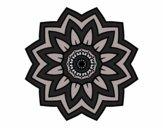 Desenho Mandala flores de girassol pintado por MaraRubia