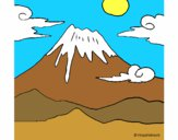 Desenho Monte Fuji pintado por daniel12