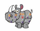 Desenho Rinoceronte-de-java pintado por arthuez