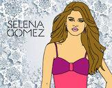 Desenho Selena Gomez pintado por Juju22