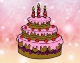 Desenho Torta de Aniversário pintado por S2Assilene