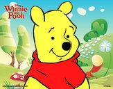 Desenho Ursinho Pooh - Primeiro plano pintado por Carlamotta