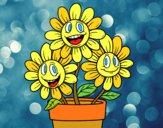 Desenho Vaso de flores pintado por Slotus