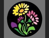 Desenho Gravado com flores pintado por AmaliaLait