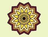Desenho Mandala flores de girassol pintado por Shika