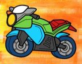 Desenho Moto esportiva pintado por Mentinha