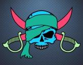 Desenho Símbolo pirata pintado por daniela200