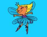 Desenho Fada com alas pintado por luluisa123