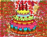 Desenho Torta de Aniversário pintado por YAGOENDRES