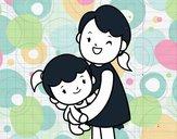 Abraço com a mãe