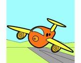 Avião a aterrar