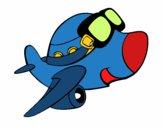 Desenho Avião pequeño II pintado por Kamy77