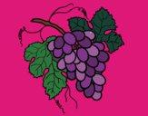 Desenho Cacho de uvas pintado por luzinda
