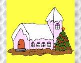 Desenho Casa pintado por Jussarapa