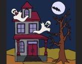 Desenho Casa do terror pintado por Missim